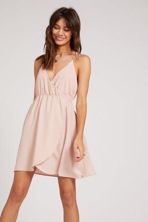 Volcom - Wrap Goddess Dress - Hazey Pink