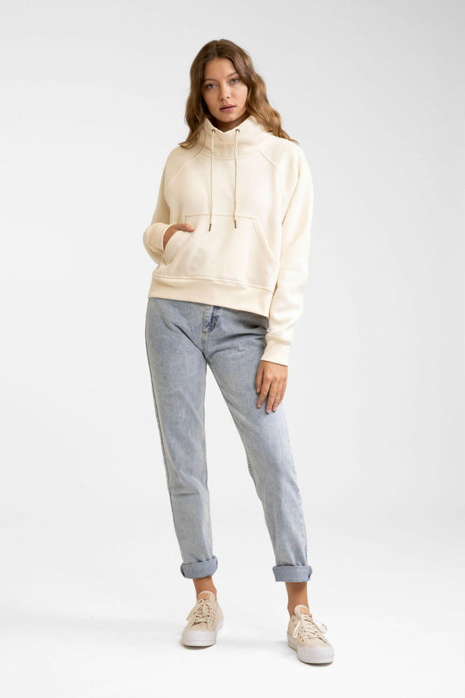 Rhythm - Funnel Neck Fleece - Off White - Front