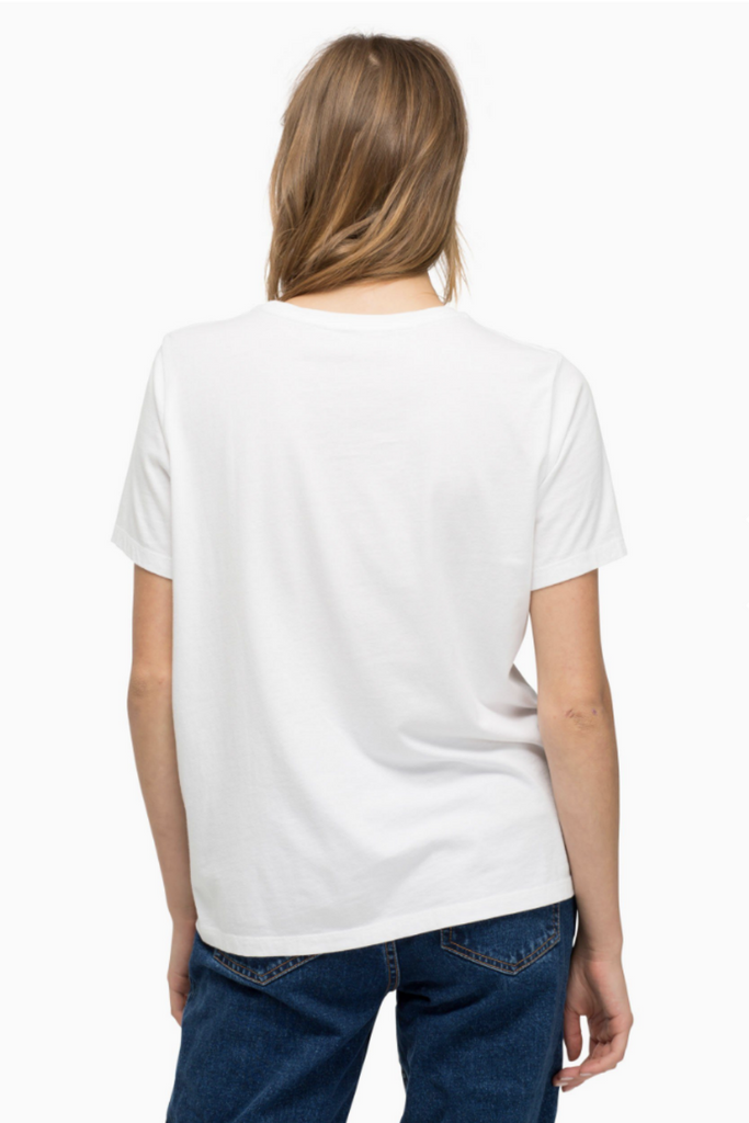 Richer Poorer - Pocket Tee - White - Back