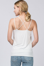 Double Zero - Double Strap Cami - Cloud - Back