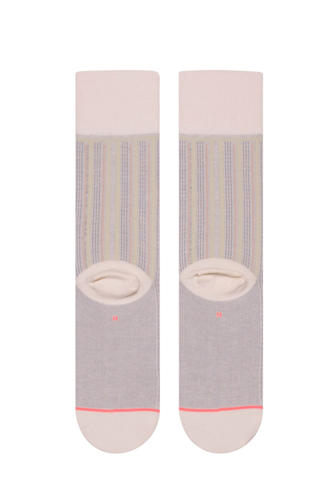 Stance - Stripe Down - Cream - Back