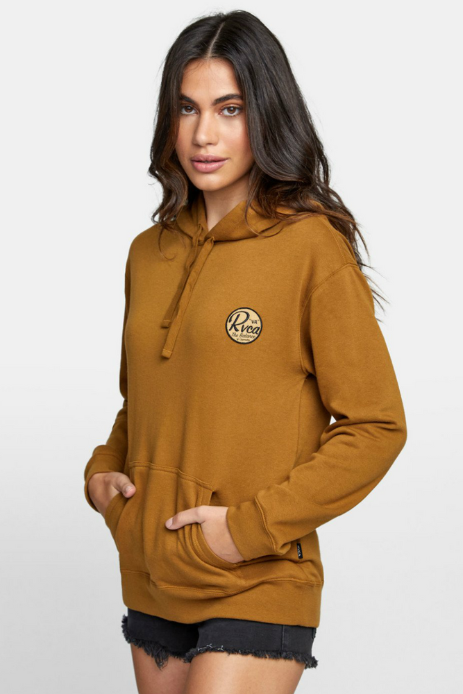 RVCA - Patch Seal PO Hoodie - Antique Bronze - Side