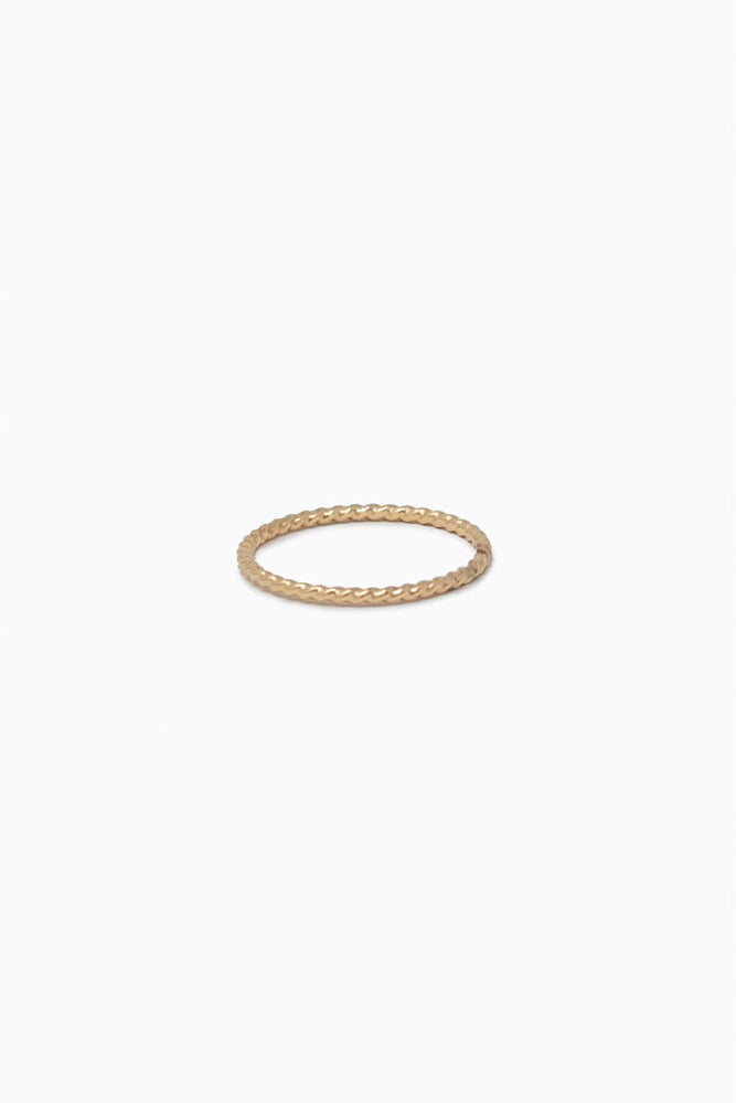 Able - Twisted Stacking Ring - Gold