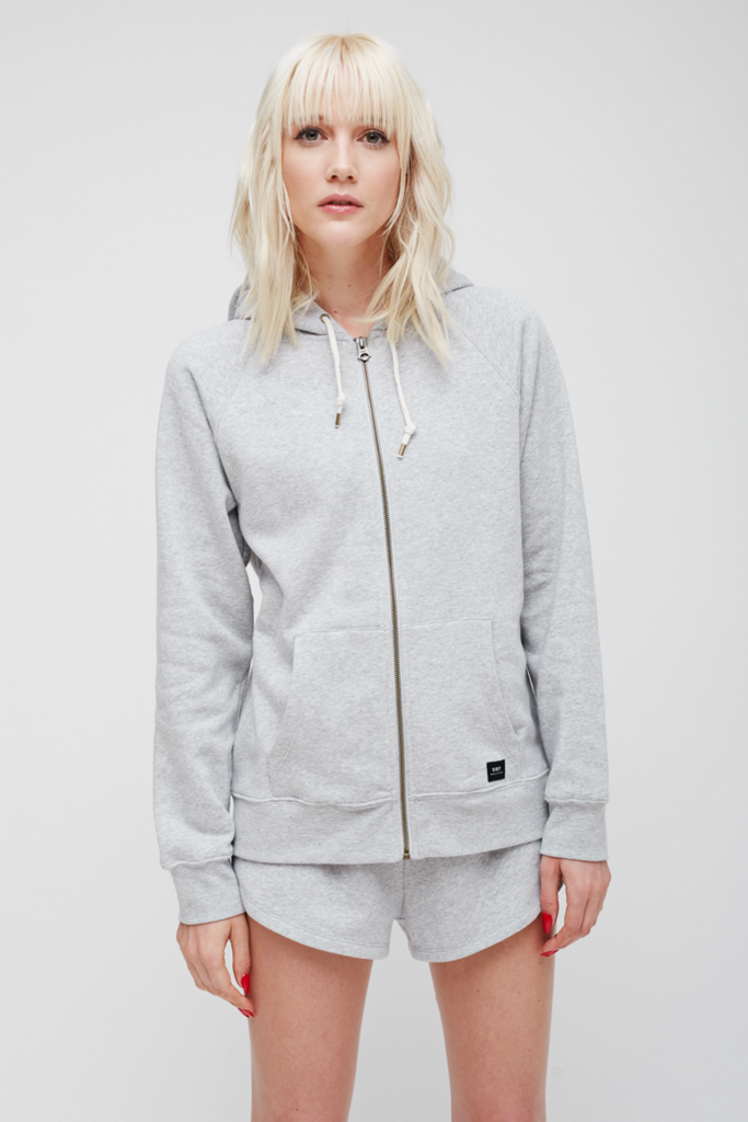 Obey - Comfy Zip Hood - Heather Grey - Front