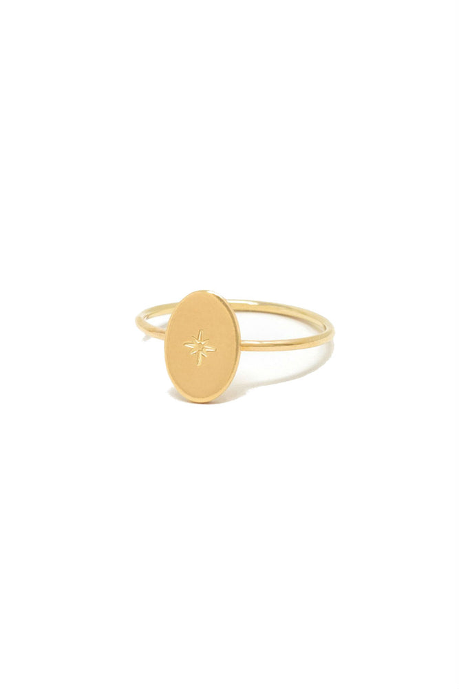 Able - Dainty Oval Ring - Gold