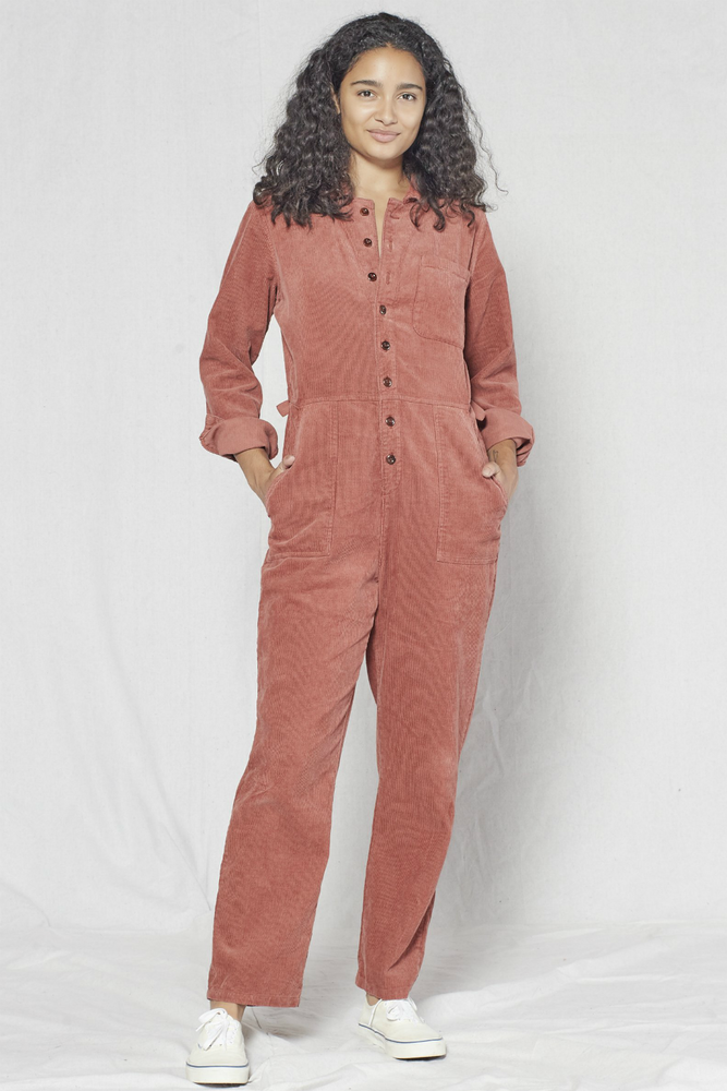Outerknown - Outpost Cord Jumpsuit - Nutmeg - Front