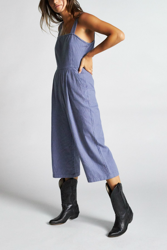 Brixton - Beatrice Jumpsuit - Washed Navy - Detail