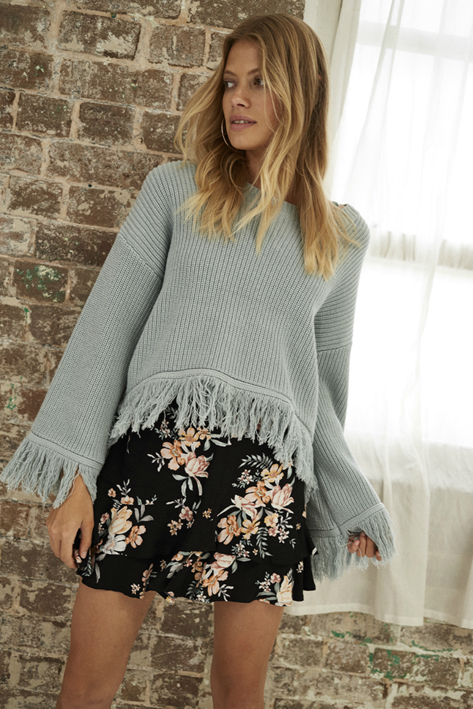 Somedays Lovin - Be Free Knit Jumper - Duckegg - Front