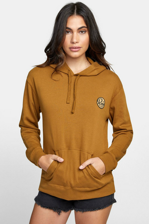 RVCA - Patch Seal PO Hoodie - Antique Bronze - Front