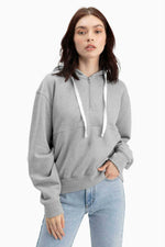 Richer Poorer - Half Zip Hoodie - Light Heather Grey - Front