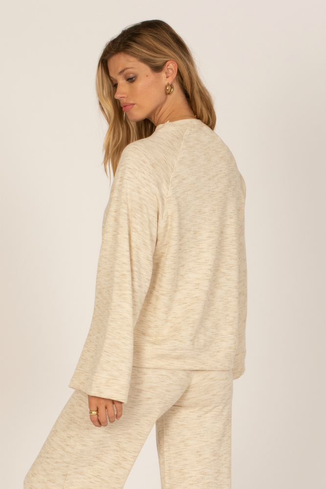 Amuse Society - Out Of Office Knit Fleece - Casa Blanca - Back