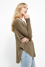 Free People - Moonshine Tunic - Army - Back
