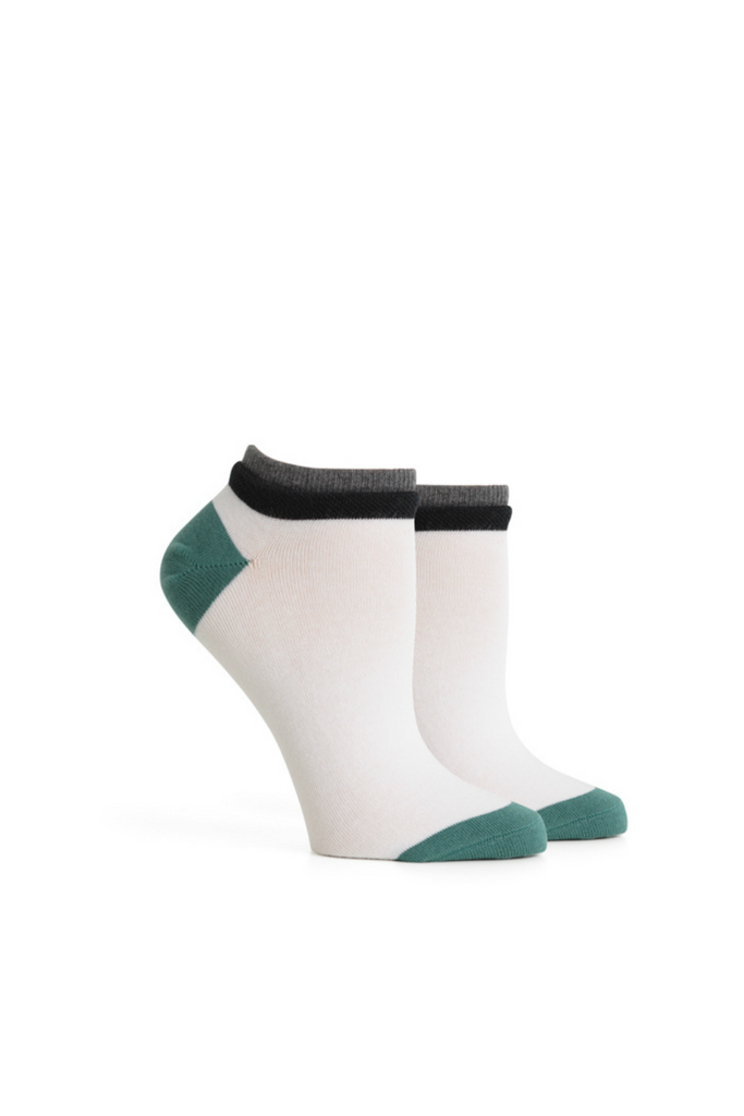 Richer Poorer - Cassat Low Show - White/Green
