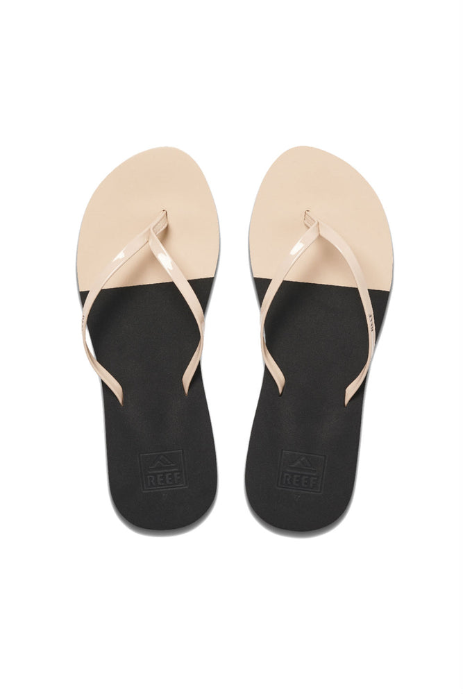 BLISS TOE DIP - BLACK/NUDE