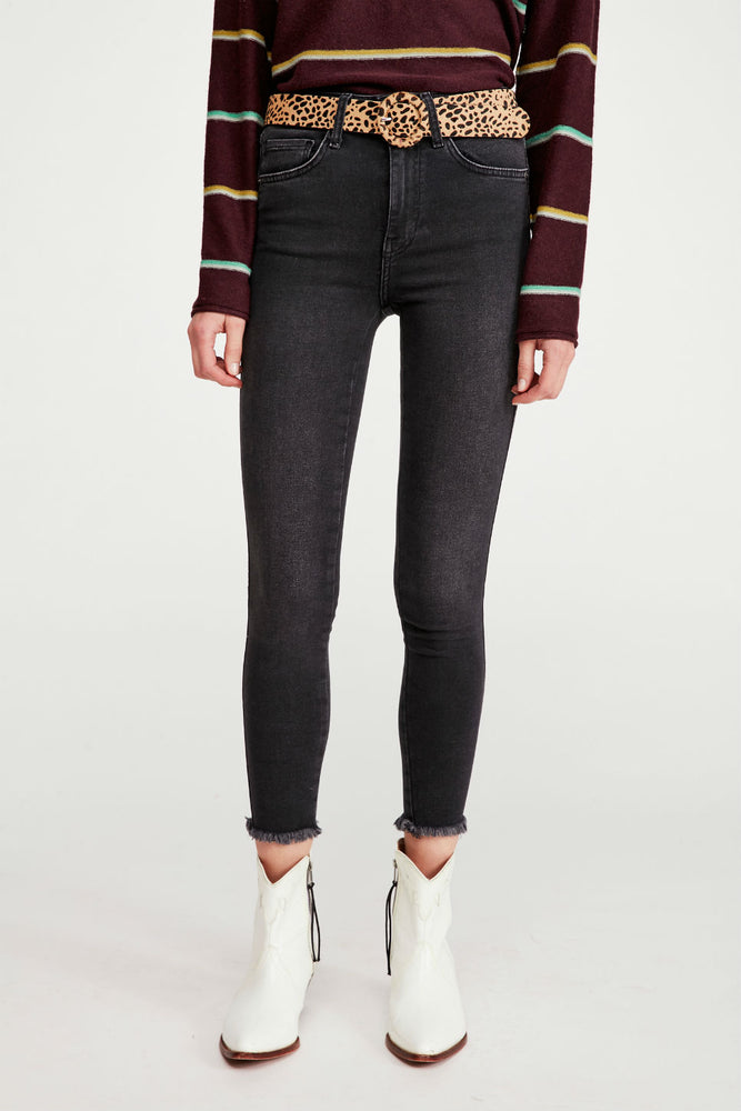 RAW HIGH RISE JEGGING - WASHED BLACK
