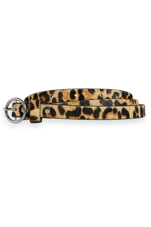 Scotch & Soda - Animal Print Leather Belt