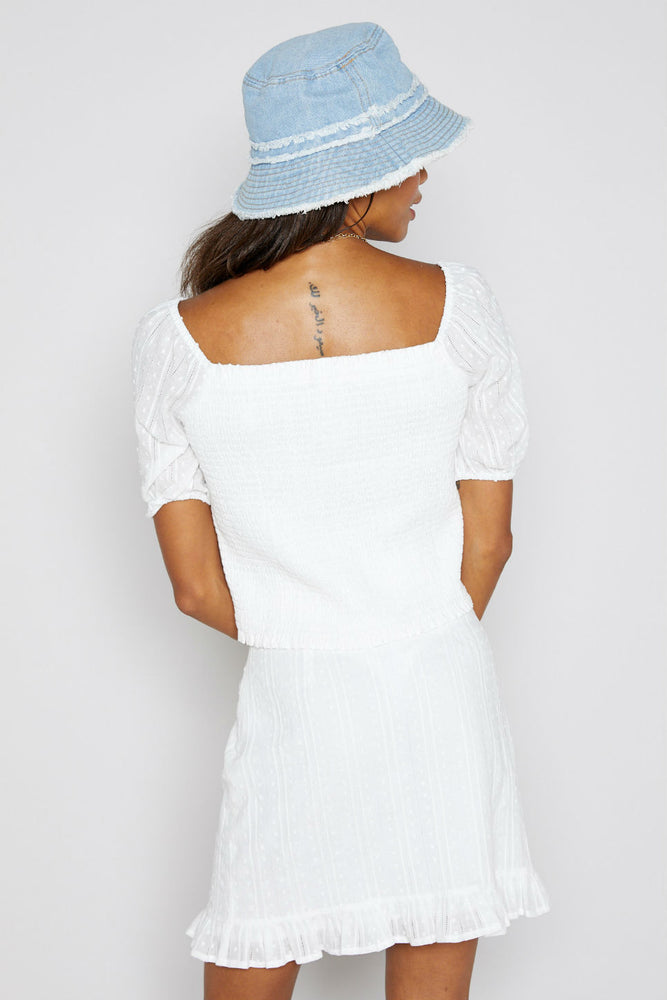 BEYOND THE SEA SMOCK TOP
