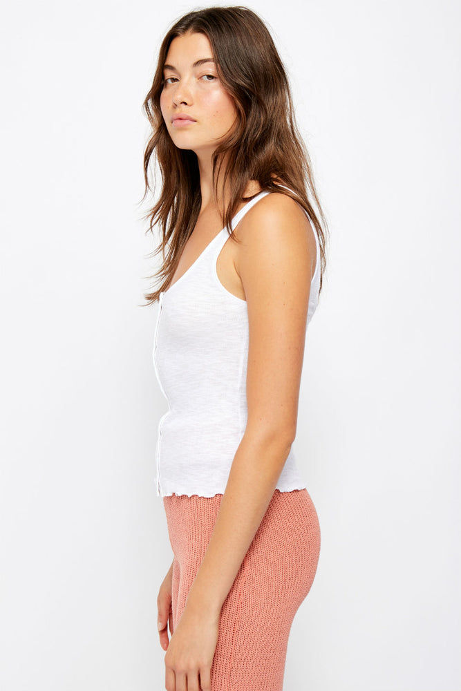 Free People - Tellin Me Tank - White - Side