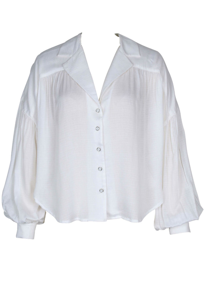DROPPED PUFF SLEEVE SHIRT