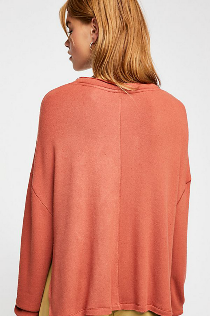 Free People - Be Good Terry Pullover - Mojave Sands - Back