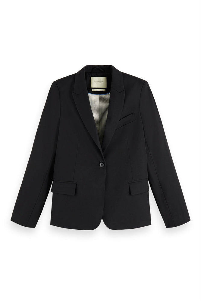 Scotch & Soda - Classic Tailored Blazer w/ Stripe Lining - Black
