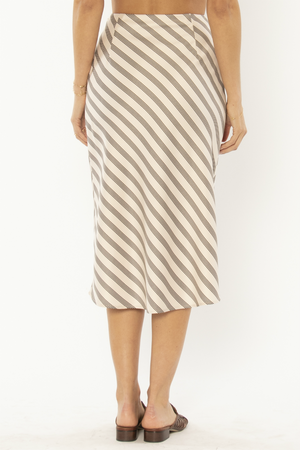 Amuse Society - Dani Woven Midi Skirt - Shell - Back