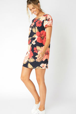 MinkPink - Annika Blooms Tee Dress - Multi - Side