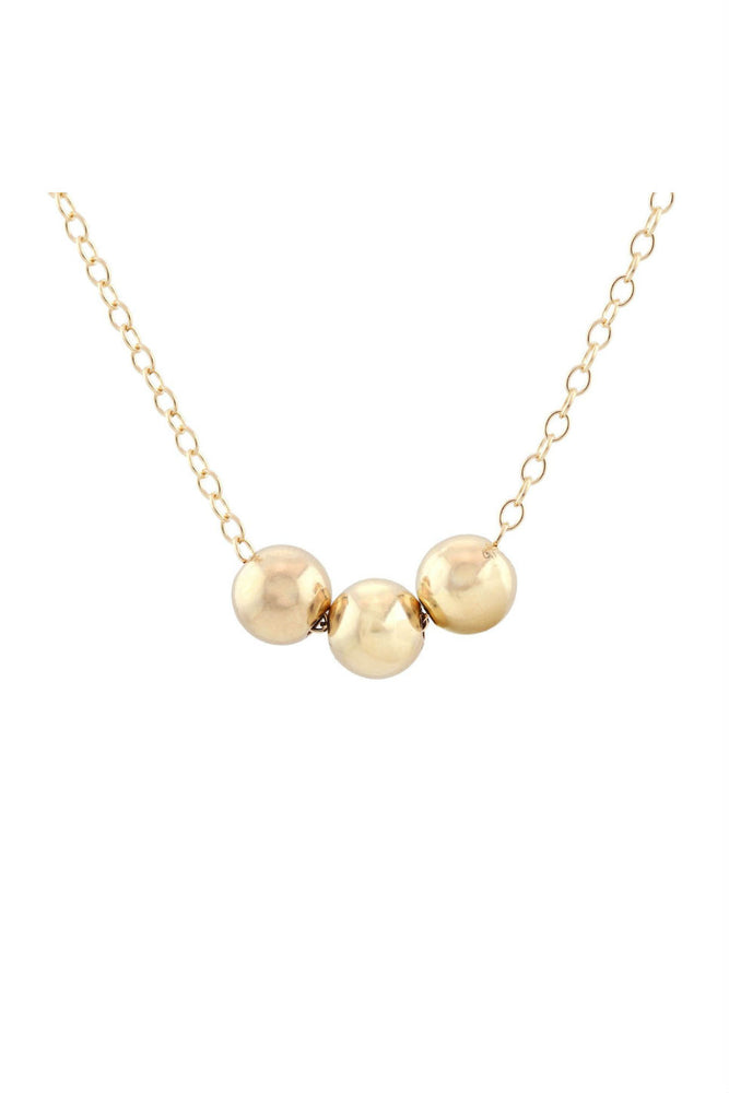 Kris Nations - Classic Bead Necklace - 14K Gold Filled - Package