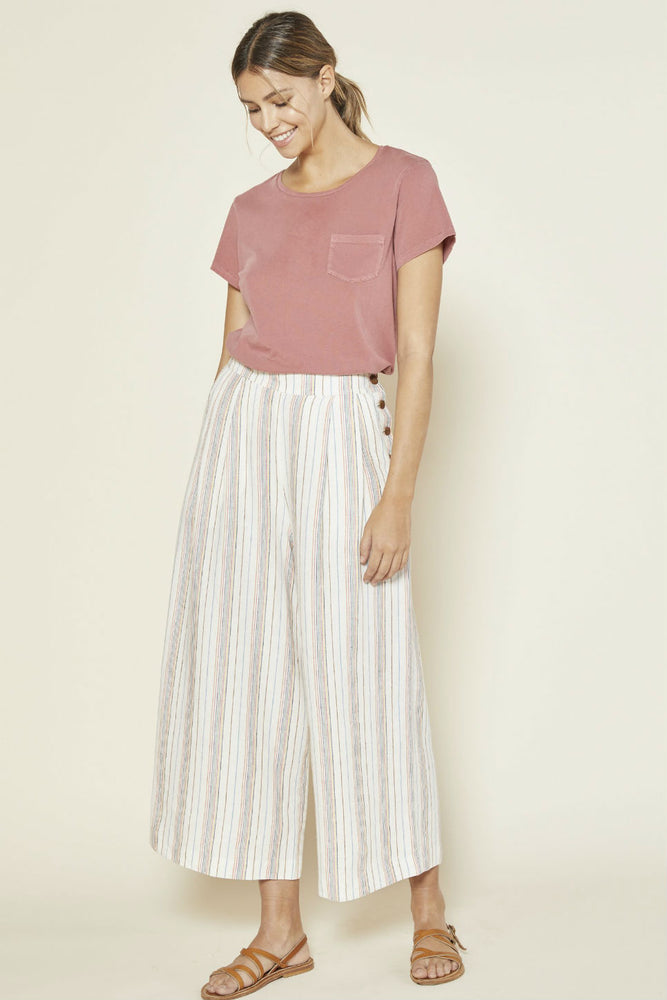 Outerknown - Eclipse Pleated Pant - Prism Stripe - Front