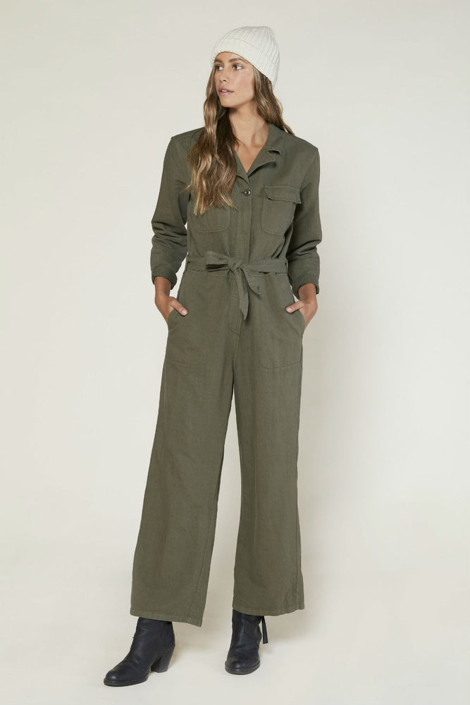 Outerknown - Scout Jumpsuit - Safari - Back