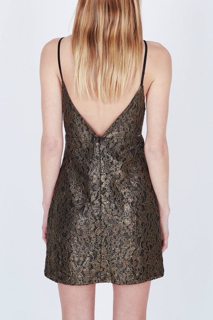 Obey - Dominique Dress - Gold - Back