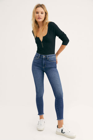 RAW HIGH RISE JEGGING - CAPRI BLUE