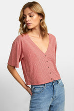 RVCA - Chalked Top - Pompei Red - Back