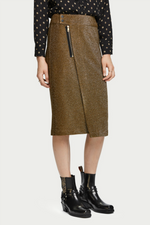 MIDI LUREX SKIRT