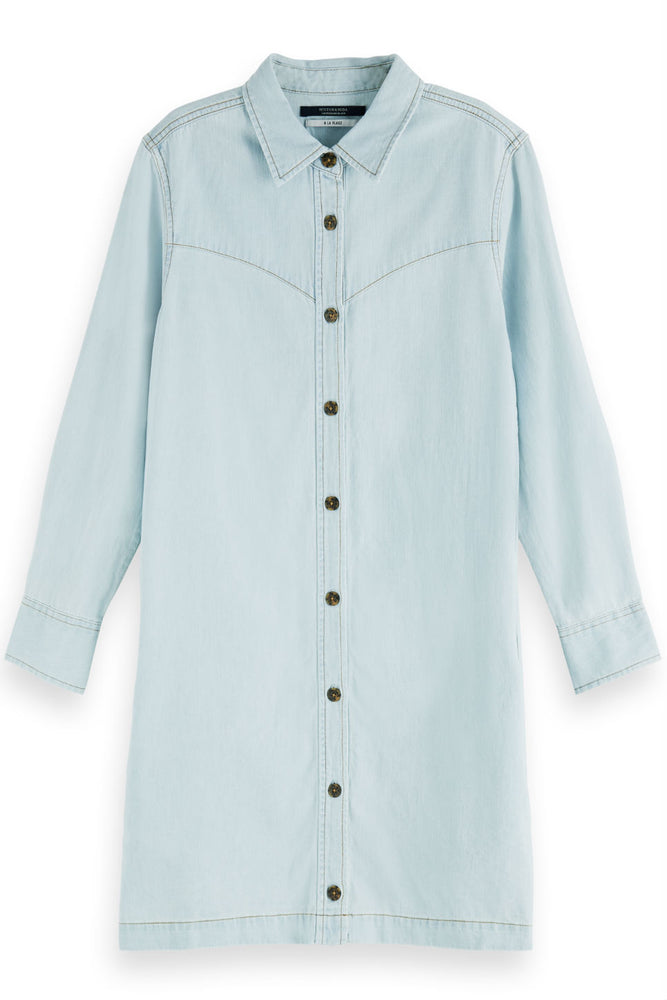 AMS BLAUW DENIM SHIRT DRESS