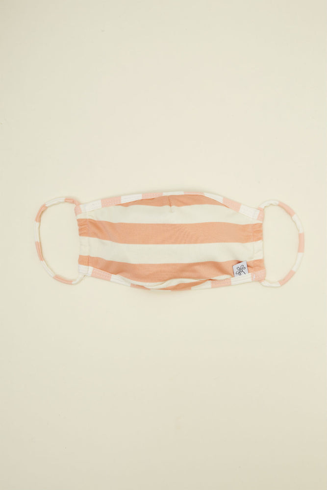 Dippin Daisy - Face Mask - Coral Beach Stripes - Front