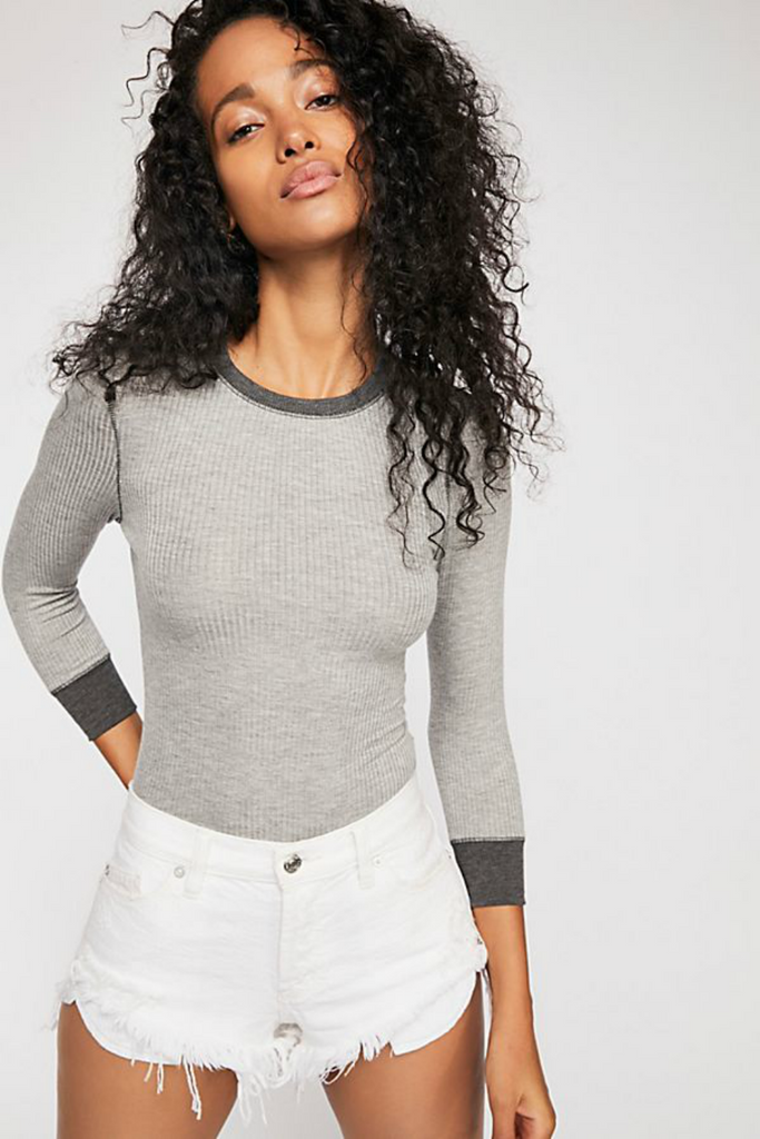 Free People - Good on You LS - Heather Grey - Front