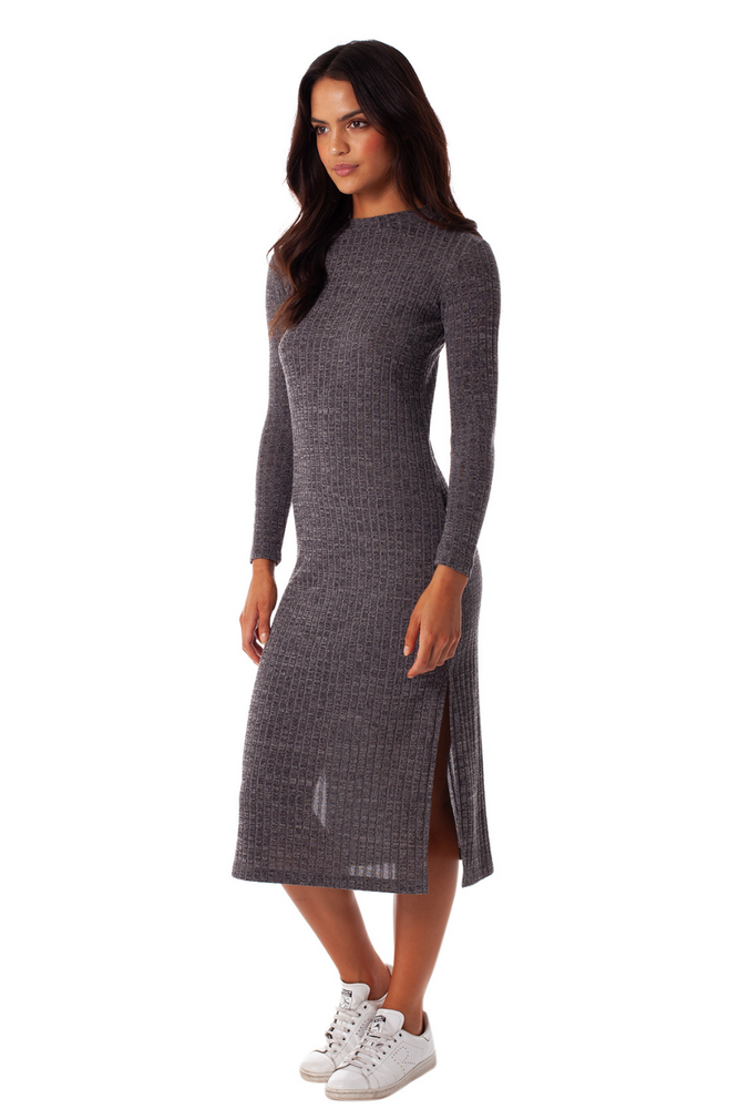 Rhythm - Oxford Dress - Charcoal - Back