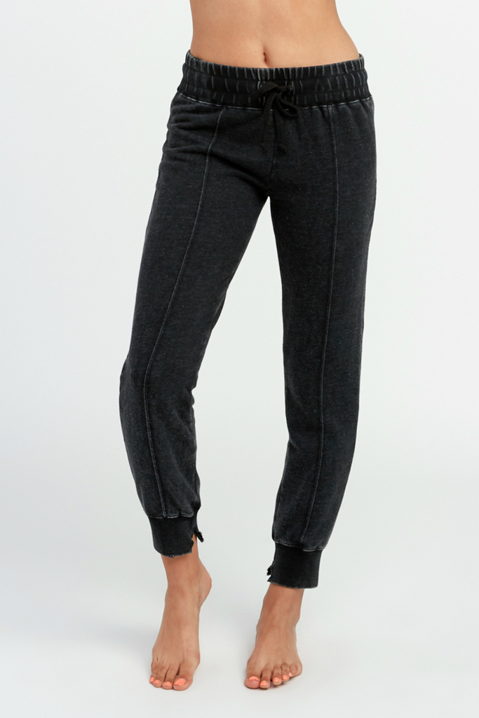 RVCA - Faint Fleece Pant - Black - Front