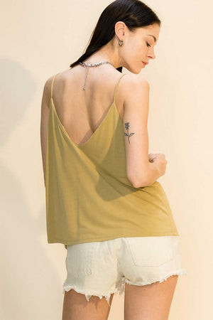 V NECK CAMI WITH OPEN BACK DETAIL