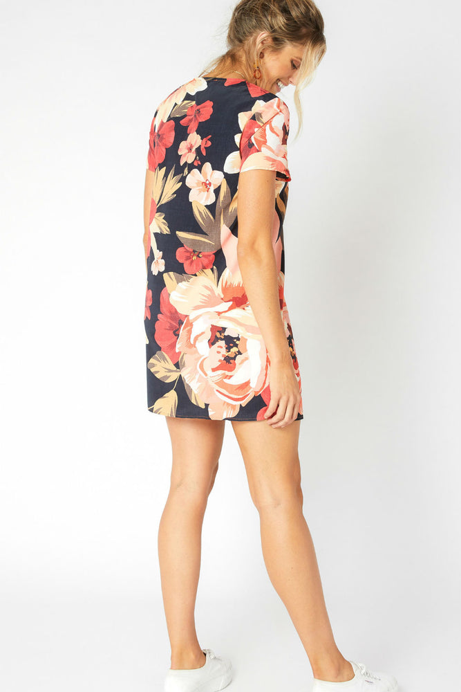 MinkPink - Annika Blooms Tee Dress - Multi - Back