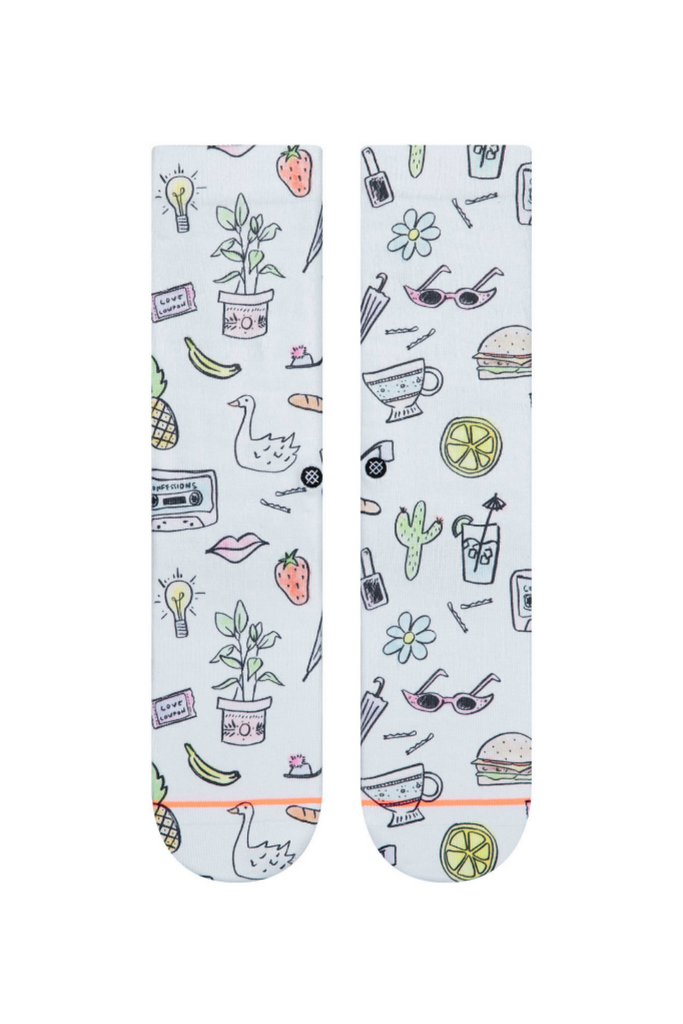 Stance - Shopping List - White - Front