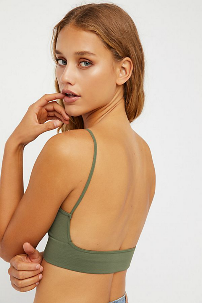 Free People - Low Back Bra - Green - Back