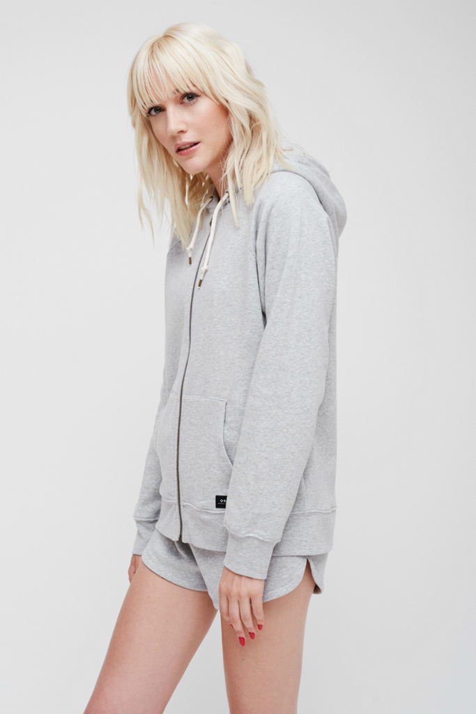 Obey - Comfy Zip Hood - Heather Grey - Side