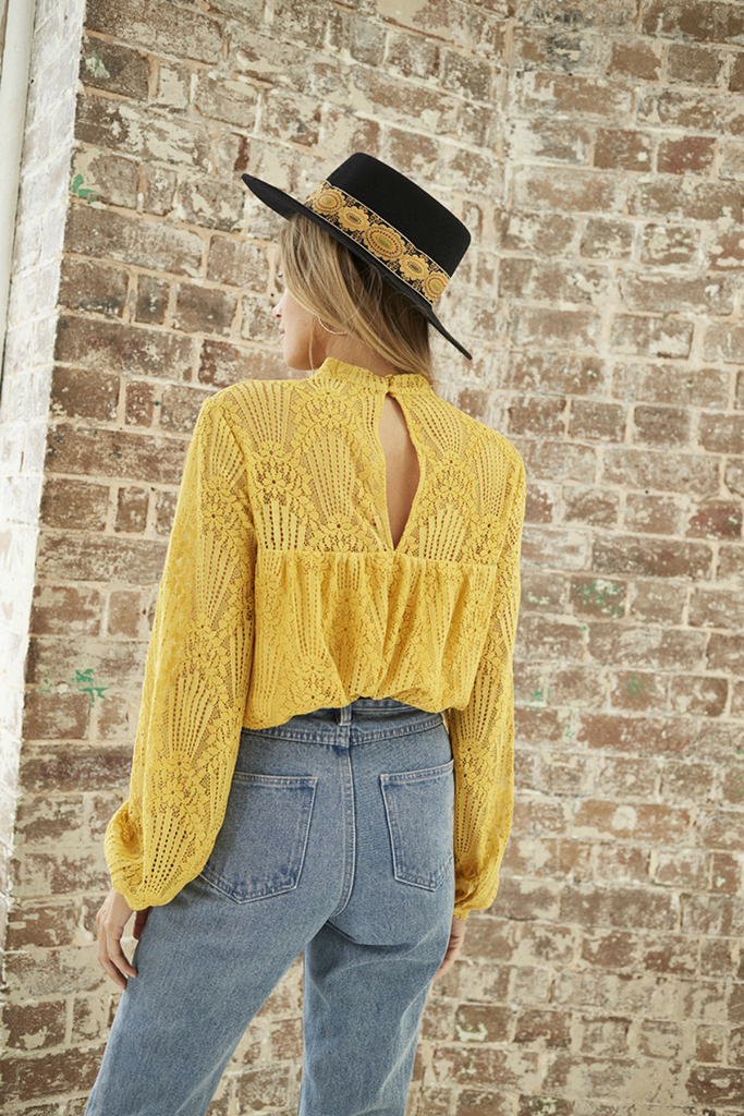 Somedays Lovin - Golden Days Blouse - Mango - Back