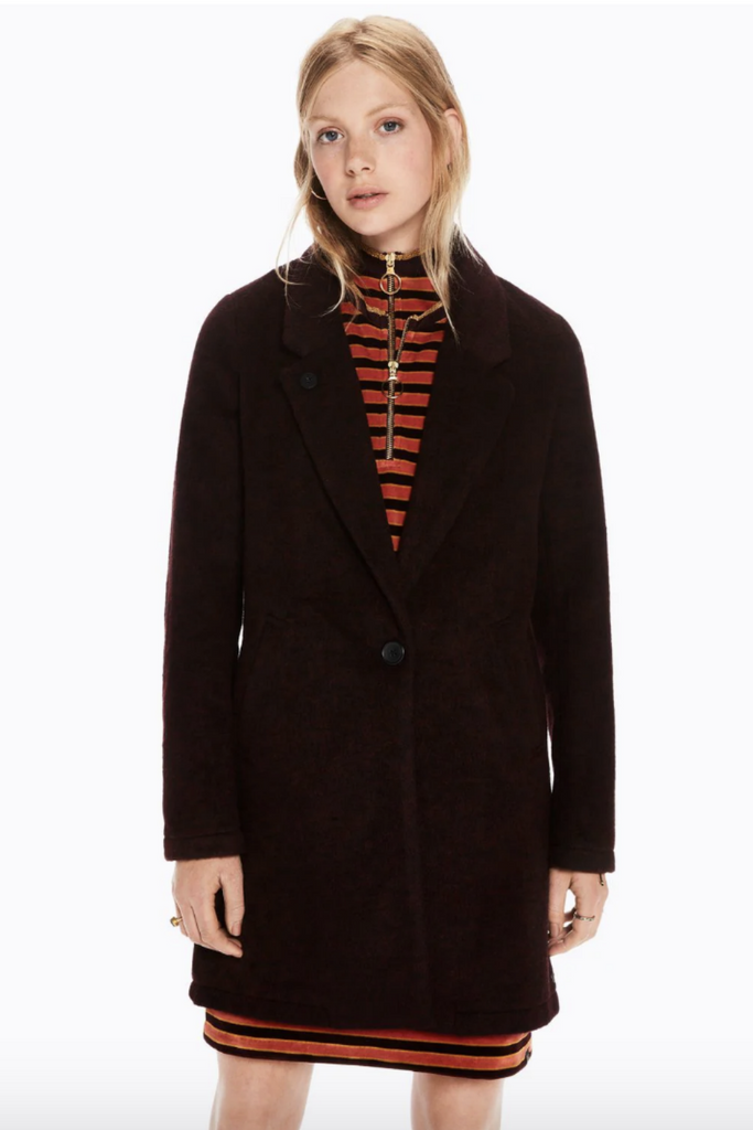 Scotch and Soda - Bonded Wool Jacket - Burgundy - Front