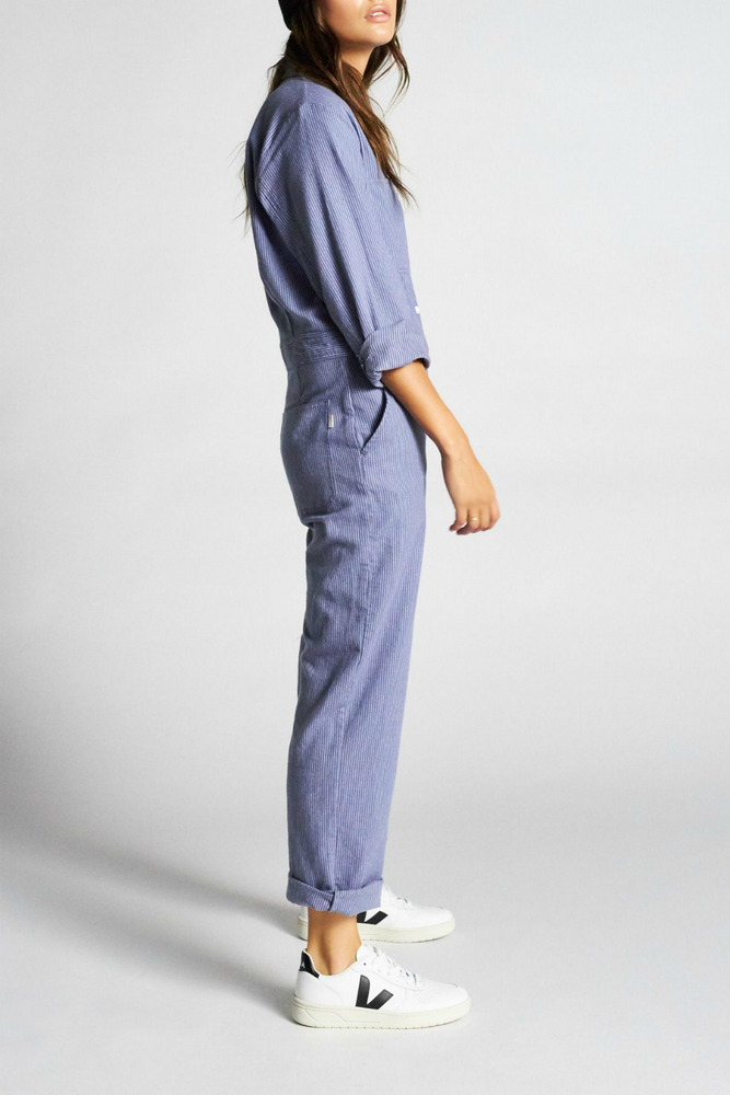 Brixton - Albion Coverall - Washed Navy - Back Detail