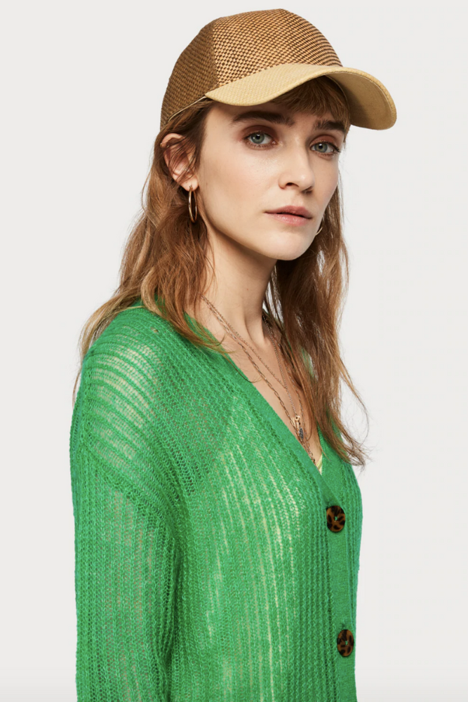 Scotch and Soda - Lightweight Cardigan - Palm Green - Front