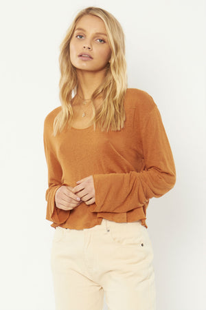 PIERCE LS KNIT TOP