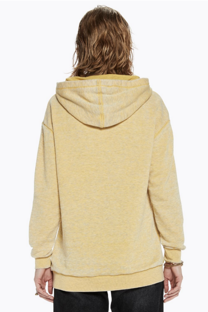 Scotch and Soda - Burn Out Hoody - Cheddar - Back